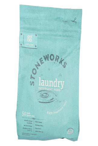 Stoneworks Laundry Detergent Pods - Rain - Case Of 6 - 50 Count