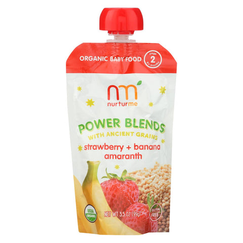 Nuturme Strawberry + Banana Amaranth Power  - Case Of 6 - 3.5 Oz