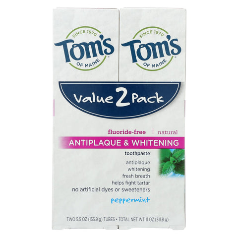 Tom's Of Maine Toothpaste - Anti Plaque - White - Case Of 3 - 2 Count