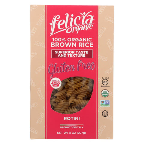Felicia Organic Brown Rice Rotini Pasta  - Case Of 6 - 8 Oz
