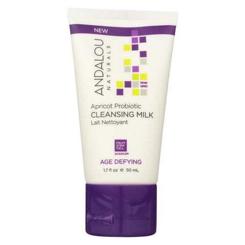 Andalou Naturals Cleansing Milk - Apricot - Probiotic - Case Of 6 - 1.7 Fl Oz