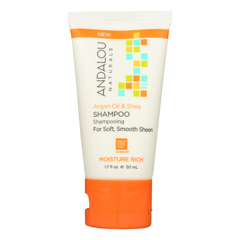 Andalou Naturals Shampoo - Argan - Sea - Rich - Case Of 6 - 1.7 Fl Oz