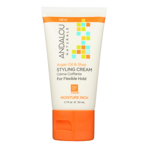 Andalou Naturals Styling Cream - Argan - Shea - Case Of 6 - 1.7 Fl Oz