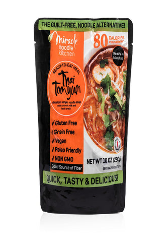 Miracle Noodle Ready To Eat Meal - Thai Tom Yum - Case Of 6 - 10 Oz
