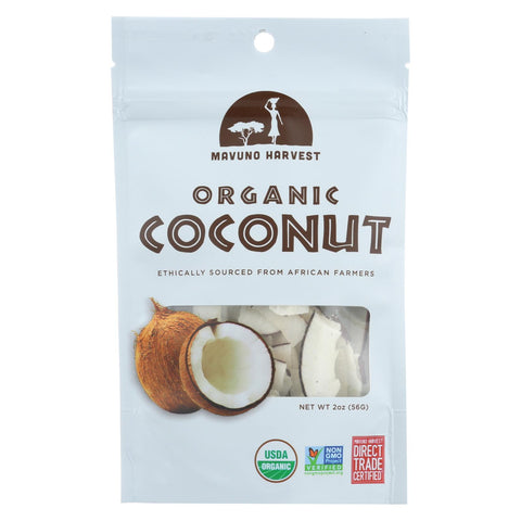 Mavuno Harvest - Organic Dried Fruit - Dried Coconut - Case Of 6 - 2 Oz.