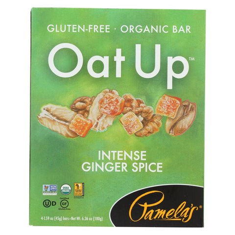 Pamela's Products - Oat Up Gluten-free Bar - Intense Ginger Spice - Case Of 8 - 4-1.59 Oz.