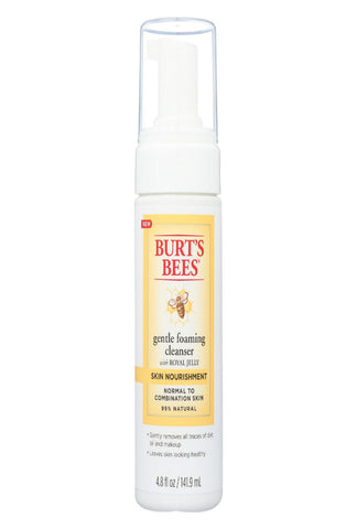 Burts Bees Cleanser - Foam - Skin Nourish - 4.8 Fl Oz