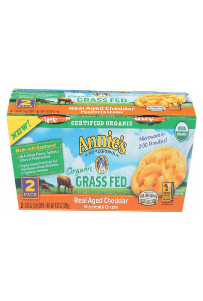 Annie's Homegrown Macaroni And Cheesee Cup - Organic - Gluten Free - Micro - Case Of 6 - 4.02 Oz