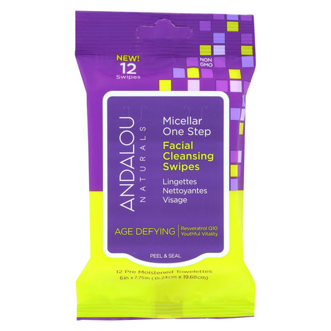 Andalou Naturals Swipes - Age Defying Micellar - Case Of 6 - 12 Count