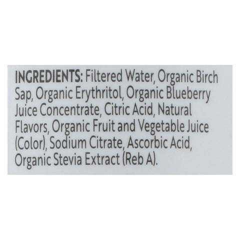 Treo Birch Water Beverage - Blueberry - Case Of 12 - 16 Fl Oz.