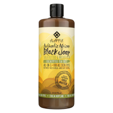 Alaffia - African Black Soap - Eucalyptus Tea Tree - 32 Fl Oz.