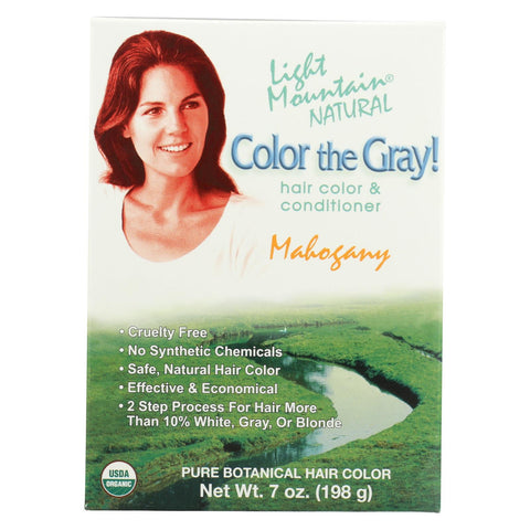 Light Mountain Hair Color - Color The Gray! Mahogany - Case Of 1 - 7 Oz.