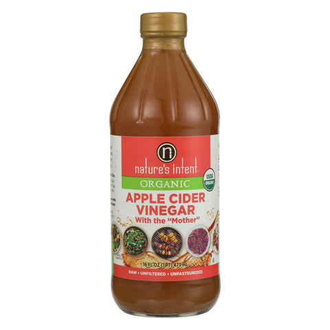 Nature's Intent Vinegar - Organic - Apple Cider - Case Of 6 - 16 Fl Oz