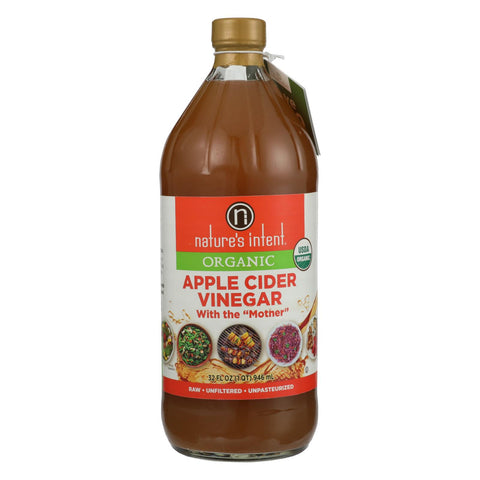 Nature's Intent Vinegar - Organic - Apple Cider - Case Of 6 - 32 Fl Oz