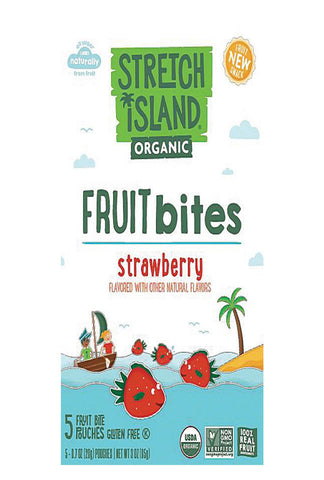 Stretch Island Organic Fruit Bites - Strawberry - Case Of 9 - Pack Of 5 - 0.7 Oz