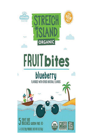 Stretch Island Organic Fruit Bites - Blueberry - Case Of 9 - Pack Of 5 - 0.7 Oz