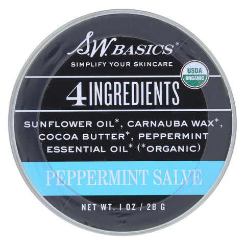 S.w. Basics - 4 Ingredients Salve - Peppermint - 1 Oz.