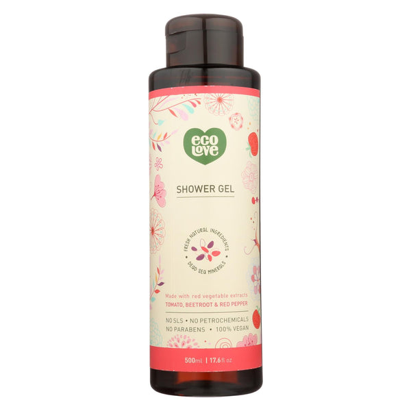 Ecolove Body Wash Red Vegetables Shower Gel - Case Of 500 - 17.6 Fl Oz.