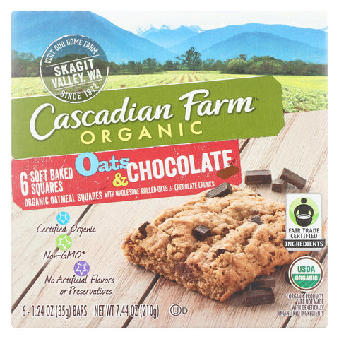 Cascadian Farm - Soft Baked Squares - Oats And Chocolate - Case Of 8 - 6-1.24oz.
