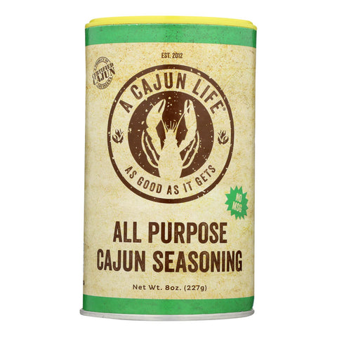 A Cajun Life All Purpose Cajun Seasoning 8 Oz - Case Of 6 - 8 Oz