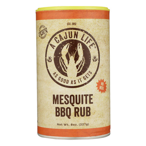 A Cajun Life Mesquite Bbq Seasoning 8 Oz - Case Of 6 - 8 Oz