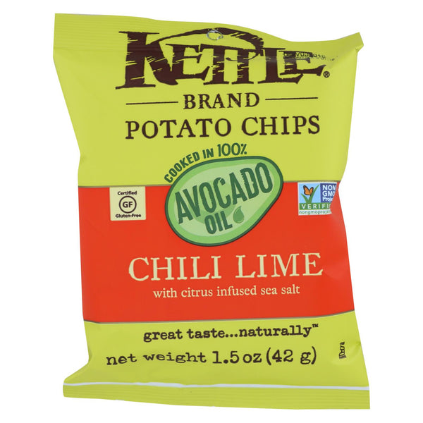 Kettle Brand - Pot Chips Avo Oil Chli Lm - Case Of 24 - 1.5 Oz