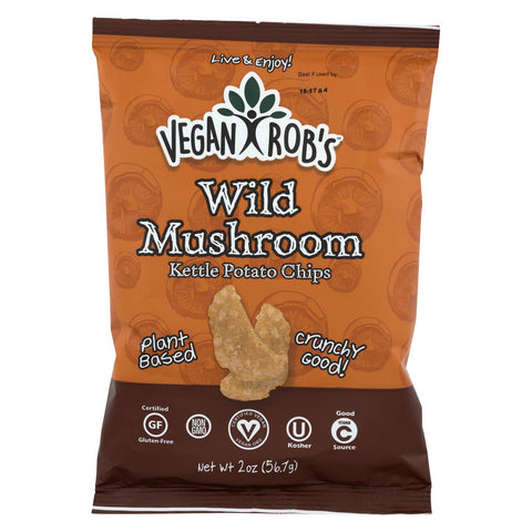 Vegan Rob's - Chips Kttl Wild Mushroom - Case Of 24 - 2 Oz
