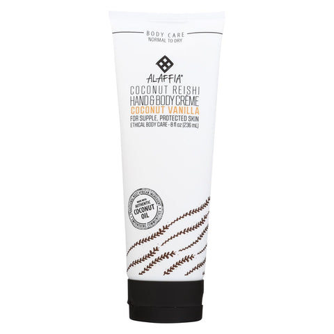 Alaffia - Hand And Body Cream - Coconut Reishi Vanilla - 8 Fl Oz.