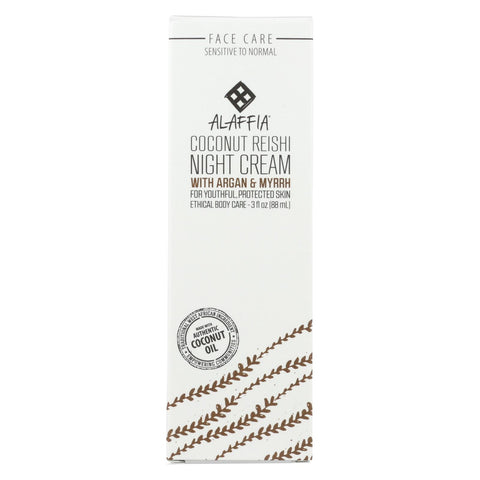 Alaffia - Night Cream - Coconut Reishi - 3 Fl Oz.