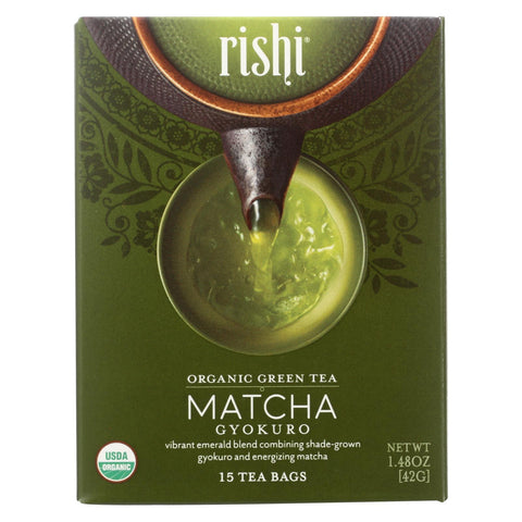 Rishi - Tea - Matcha Gyokuro - Case Of 6 - 15 Bags