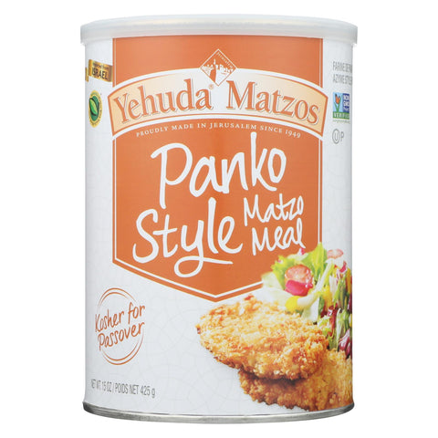 Yehuda Matzo Meal - Panko Style - Case Of 12 - 15 Oz