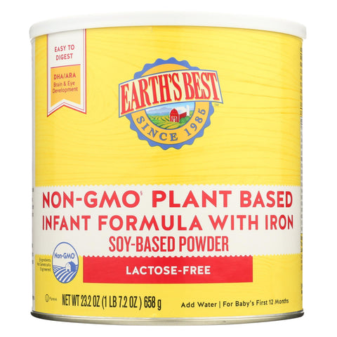 Earth's Best Non-gmo Soy Infant Formula  - Case Of 4 - 23.2 Oz