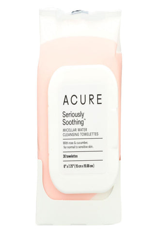 Acure Towelettes - Micellar - Soothe - 30 Count