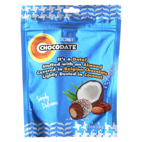 Chocodate - Date And Almond - Coocnut - Case Of 12 - 3.53 Oz.