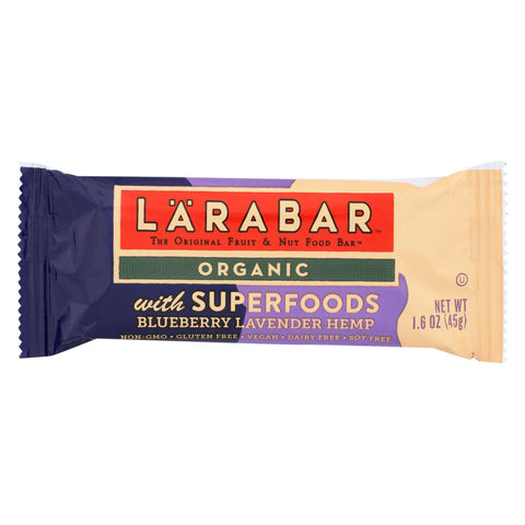 Larabar Bar - Organic - Superfood - Blueberry Lavender - Case Of 15 - 1.6 Oz