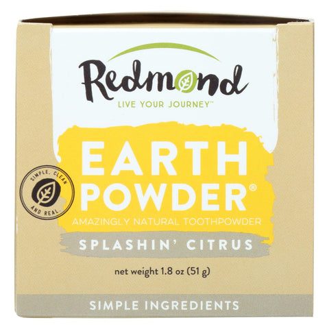 Redmond Earthpowder Toothpowder, Splashin' Citrus  - 1 Each - 1.8 Oz