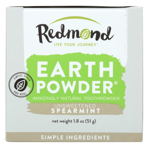 Redmond Earthpowder Toothpowder, Spearmint  - 1 Each - 1.8 Oz