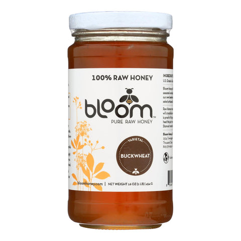 Bloom Honey - Honey - Buckwheat - Case Of 6 - 16 Oz.