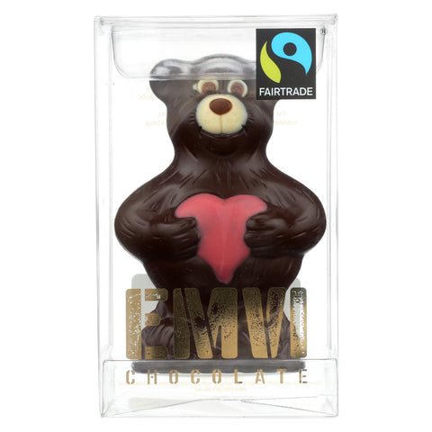 Emvi Fair V-bear Dark Chocolate  - Case Of 9 - 3 Oz