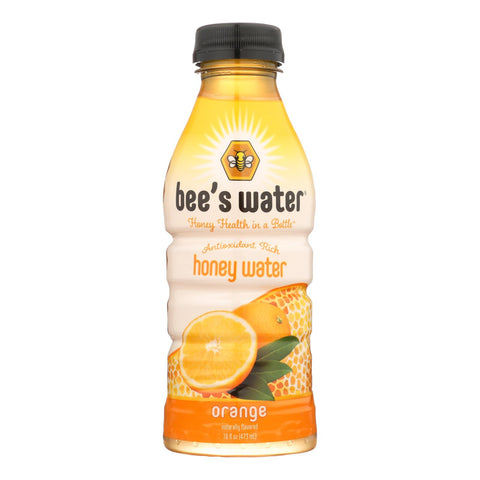 Bee's Water - Water Orange Honey - Case Of 12 - 16 Fz
