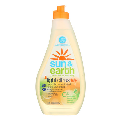 Sun & Earth Light Citrus Xtra Concentrated Dish Liquid  - Ea {each} Of 6 - 13 Fz