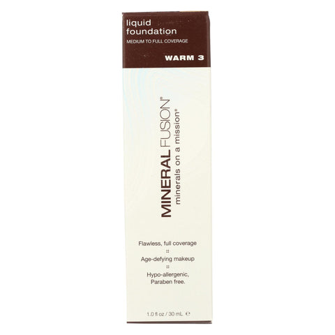 Mineral Fusion - Liquid Mineral Foundation - Warm 3 - 1 Oz.