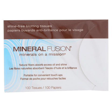 Mineral Fusion - Shine-free Blotting Tissues - 100 Count