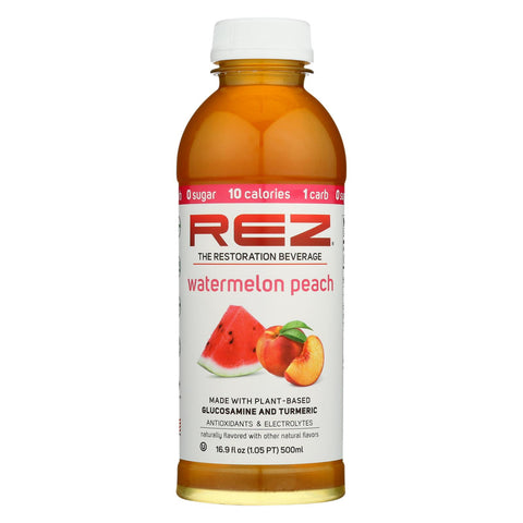Rez - Beverage Watermelon Peach - Case Of 12 - 16.9 Fz