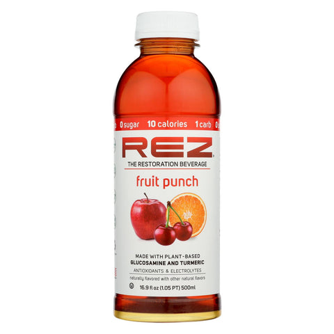 Rez - Beverage Fruit Punch - Case Of 12 - 16.9 Fz