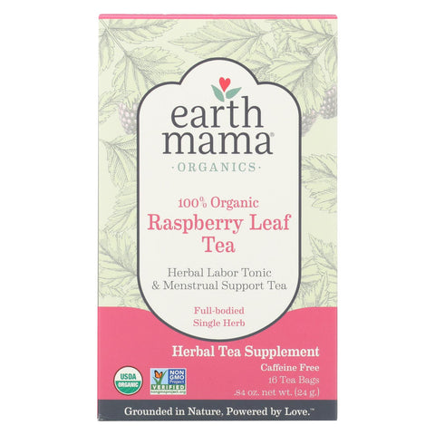 Earth Mama - Organic Tea - Raspberry Leaf - 16 Count