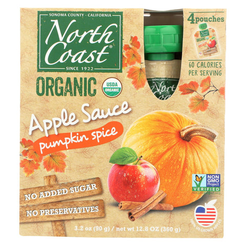 North Coast - Organic Apple Sauce - Pumpkin Spice - Case Of 6 - 4-3.2 Oz.