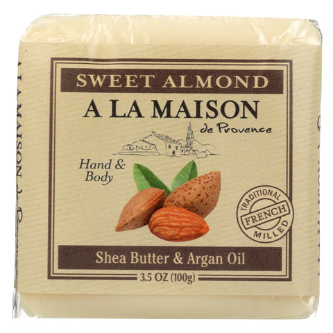 A La Maison Bar Soap - Sweet Almond - Case Of 6 - 3.5 Oz