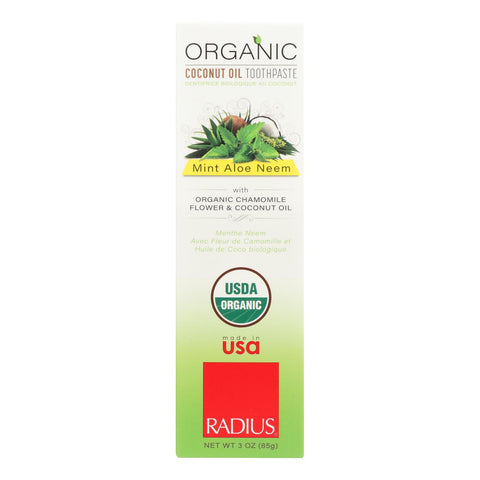 Radius Whitening Mint Aloe Neem Toothpaste  - 1 Each - 3 Oz