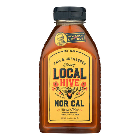 Local Hive Raw & Unfiltered Honey - Case Of 6 - 16 Oz
